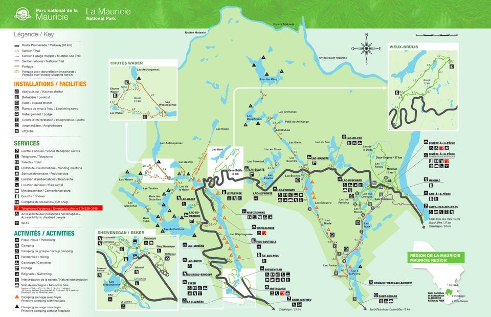 parc de la mauricie carte