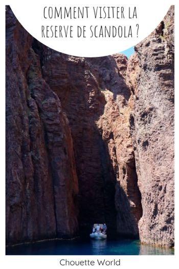 Comment visiter la réseve de Scandola