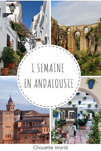 Itinéraire 1 semaine en Andalousie