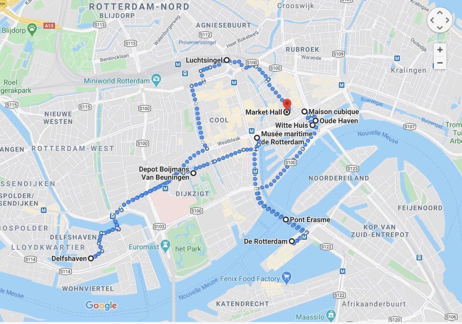 Visiter Rotterdam en 1 jour : itineraire