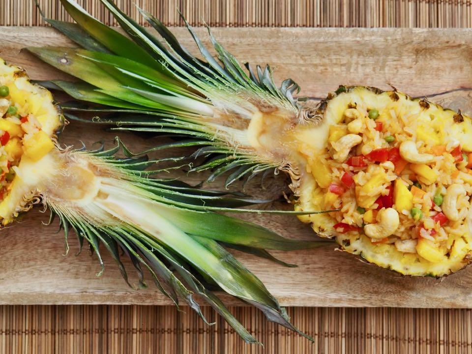 Riz sauté ananas